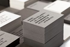 Business cards with black foil detail designed by Marks