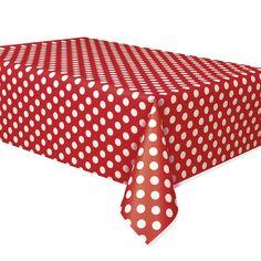 Red Polka Dot Tablecover Polka Dot Party Supplies $4.25