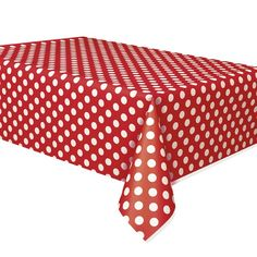 Red Polka Dot Tablecover Polka Dot Party Supplies $4.25