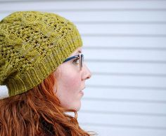 Oolong is one of the hats in Clare Devine's The Tea Collection featuring cables and lace, and is available as a Knitmastery interactive pattern. Knits up in one 100g skein of DK yarn.  #knitmastery #knitsharelove #cables #claredevine #lace #teacollection