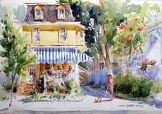 Yellow House on jackson by Marie Natale...Her paintings are so beautiful