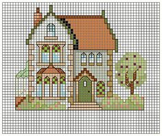 Leah' do you like this one? Cross Stitch House, Mini Cross Stitch, Cross Stitch Needles, Cross Stitch Flowers, Cross Stitch Charts, Cross Stitch Designs, Cross Stitch Patterns, Cross Stitching, Cross Stitch Embroidery