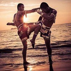 Muay Thai on the beach