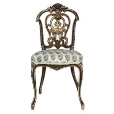 Divine 19th c. Louis XV Giltwood Chair | From a unique collection of antique and modern side chairs at http://www.1stdibs.com/furniture/seating/side-chairs/