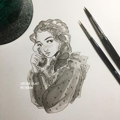 "4,431 Likes, 32 Comments - Judit Mallol (@juditmallolart) on Instagram: ""Wooohooo first day of inktober! I haven't used ink such a long time, i'm deeling super rusty…"""