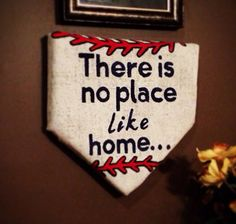 Perfect for a little boys room  There's No Place Like Home Plate by MadeByAnnaMo on Etsy, $45.00