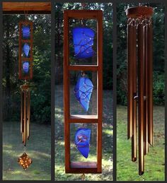 Windchimes Sea Glass Stained Glass Beach Glass by CoastChimes = GORGEOUS!