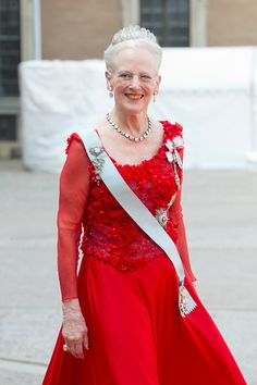 Queen Margarethe of Denmark, arrives at The Royal Chapel, at The Royal Palace in Stockholm for The Wedding of Prince Carl Philip of Sweden and Sofia Hellqvist on June 13, 2015 in Stockholm, Sweden