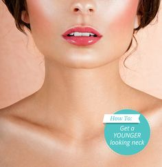 Struggling with neck wrinkles or loose skin? Here's how to make your neck look instantly younger and more taut #wrinkles #antiaging #skincare