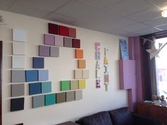 Our workshop wall - everyday is a Chalk Paint™ Day! #anniesloan #tillysplymouth
