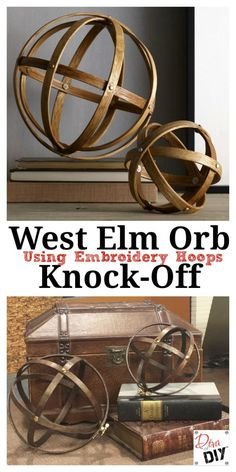 The Diva of DIY, Leanne Lee, shows you how to recreate West Elm Orbs for a fraction of the cost with embroidery hoops.