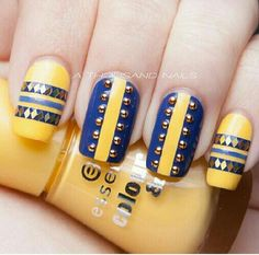 Cute yellow and blue design