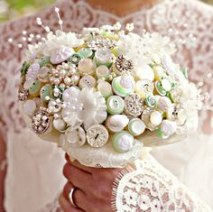 Downton Button Bouquet