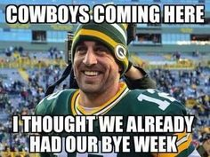 Bye week for the Green bay packers.