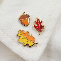 Fall Pin Set by joannabehar on Etsy