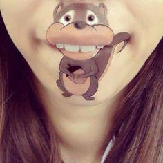 Lips art - squirrel