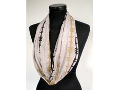 Soft Jersey Hand Printed Circular Scarf  by littlelostsoul on Etsy, £18.00