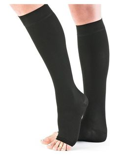 Medical Compression socks kl.2 AD, black, without toe (M)