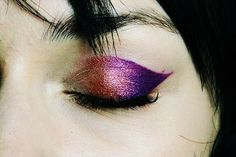Jeremy Scott Spring/Summer 2014 metallic ombre eye makeup
