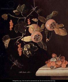Adriaen Coorte - Still life of medlars, currants...