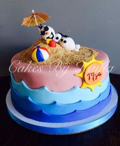 """""""Olaf on the Beach Cake"""" (from the Disney Movie Frozen)"""