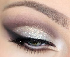 Champagne eyes, to match your champagne toast. #NYE #shimmer