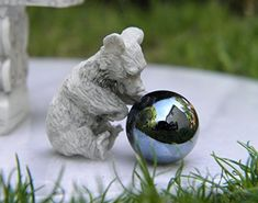 Miniature Dollhouse FAIRY GARDEN Accessories  TINY Bear with Gazing Ball  NEW -- Want additional info? Click on the image.