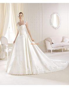 Omgekeerde Driehoek Satijn Natuurlijk Bruidsmode 2014