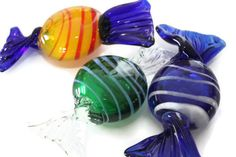 Oversized Murano Glass Wrapped Candy