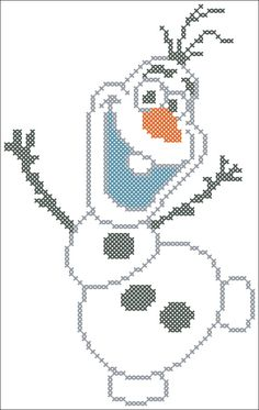 PDF OLAF  Frozen cross stitch pdf Pattern  от Rainbowstitchcross
