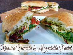 Roasted Tomato  & Mozzarella Panini {a DIY version of my favorite Starbucks sandwich}