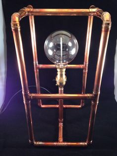 Copper lamp / copper pipe lamp / industrial / by Lightsandlamps