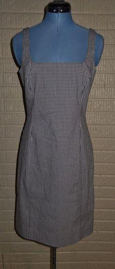 Ralph Ralph Lauren 8 Navy White gingham checked Sheath Dress  #RalphLauren…