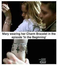 Pinned this for the image just curious... Did anybody else notice the Men of Letters Symbol on Mary's bracelet? Does this mean the Campbells were some of the hunters trusted by the Men of Letters?!?!?!?!?!?