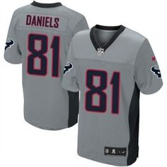 Mens Nike Houston Texans http://#81 Owen Daniels Elite Grey Shadow Jersey