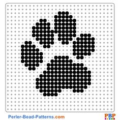 Pearl pattern of paw. On buegelperlenvorla … you can make a great choice … – Bügelperlen – Hama Beads Pony Bead Patterns, Pearler Bead Patterns, Perler Patterns, Beading Patterns, Beading Tutorials, Bracelet Patterns, Cross Stitching, Cross Stitch Embroidery, Cross Stitch Patterns
