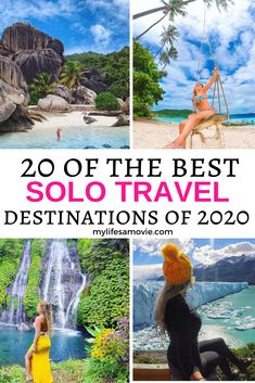 Is solo travel on your New Year's resolution list for 2020? Not sure where to start? Look no further! Here's a mega list of the 20 best solo travel destinations in 2020! It doesn't matter if you are looking for adventure travel destinations, beach vacations, or visiting large cities this list of the top 20 destinations to visit in 2020 has it all! 2020travel #solotravel #traveltips