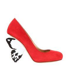 """Finissons la semaine sous le signe de la féminité avec la """"Flutterby Shoe"""". Un modèle très frais et coloré ! En vente chez Colette : http://www.colette.fr/#/eshop/article/31187126/alberto-guardiani-x-i-d-magazine-escarpins/90/"""