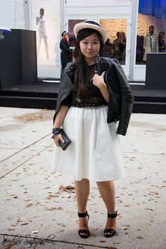 Attended the World MasterCard Fashion week with the simple Black and white theme.