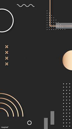 Dark brown Memphis Facebook story background vector | premium image by rawpixel.com / Kappy Kappy Poster Background Design, Powerpoint Background Design, Background Patterns, Background Designs, Geometric Background, Instagram Background, Instagram Frame, Photoshop Elementos, Bg Design