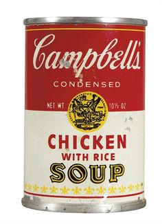 Andy Warhol, Campbell's Chicken with Rice Soup
