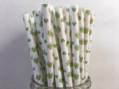 Shamrock Paper Straws