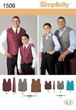 Simplicity Men's & Boys Sewing Pattern 1506 Waistcoats, Ties & Bo...