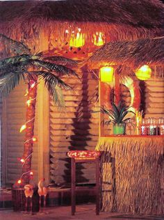 Someday, I will have a vintage tiki bar back porch/patio.