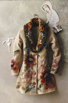 Handpainted Poppies Sweatercoat