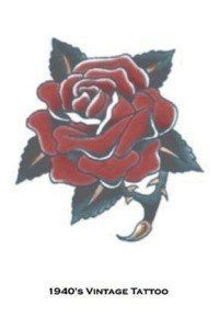 Tattoo Vintage Rose by Morris Costumes. $2.20. Temporary Tattoo. So realistic your friends will think its real. Novelty amp; Gag Toys  Temporary Tattoos   tattoos picture realistic temporary tattoos Temp Tattoo, Big Tattoo, Tattoo Shop, Tattoo Art, Tribal Tattoo Designs, Flower Tattoo Designs, Vintage Rose Tattoos, Tattoo Vintage, Realistic Temporary Tattoos