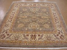7 x 8 Persian Mahal Hand Knotted Hand-Spun Wool Vegetable Dyes New Oriental Rug