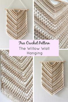 Crochet Wall Art, Crochet Wall Hangings, Diy Crochet Wall Hanging, Crochet Blanket Patterns, Crochet Stitches, Knitting Patterns, Crochet Blankets, Crochet Decoration, Crochet Home Decor
