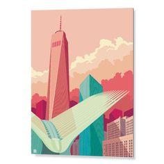 "Tableau ""WTC NYC New york city"" -Collection Peps- #tableau #decoration"