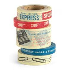 Paper tape Vintage office - Cavallini & Co - Postpapier enzo